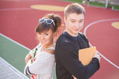 Studenti sorridenti — Foto Stock