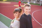 Usmívající se studenti — Stock fotografie