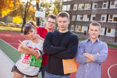 Studenten van de school veld — Stockfoto