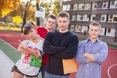 Students at school field — Стоковое фото