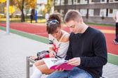 Studenti al campo scuola — Foto Stock