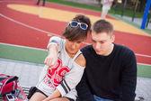 Boy and girl — Stock Photo