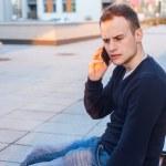 Man talking on phone — Stock Photo #45083379
