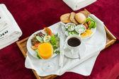 朝食用食品トレイ — ストック写真