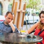 Quarrel between man and woman — Stock Photo #45093335