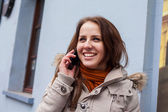 Girl talking on cell phone — Stock Photo