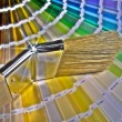 A brush and many color shades — Stock Photo