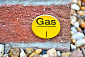 A sign for a gas pipe — Stock Photo