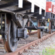 Wheels of a train - Stock Photo