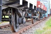 Wheels of a train — Stock Photo