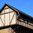 Stock Photo: Old half-timbered house in the countryside
