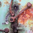 Detail of an old rusty machine - Stock Photo