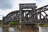 A ramshackle bridge over the Elbe — Stock Photo