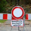 Blocked Road in the Harz National Park — Stock Photo