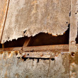 Rusted part of a ship - Stock Photo
