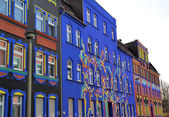 Colorful facades in a street — Stock Photo