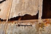 Rusted part of a ship — Stock Photo