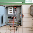 Old fuse box in a disused factory — Stock Photo