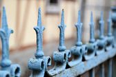 An old metal fence — Foto Stock