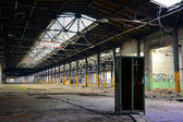 Abandoned factory building and an old cupboard — Stock Photo