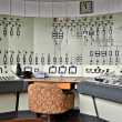 Control center of a disused factory - Stock Photo
