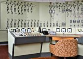 Control center of a disused factory — Stock Photo