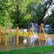 Flooded playground in Magdeburg — Stock Photo #26656561