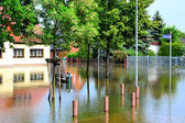 Flood the streets of Magdeburg — Stock Photo