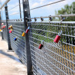 Padlocks on a bridge — Stock Photo