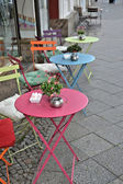A small cafe at the roadside in Berlin — Stock Photo