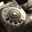 Old telephone on a desk — Foto de Stock