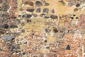 A wall with various stones — Stock Photo