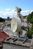 On the roofs of Karlovy Vary — Stock Photo