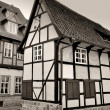 An old half-timbered house in the Old Town of Quedlinburg — Stock Photo #30644751