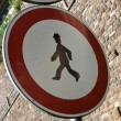 Prohibited for pedestrians — Stock Photo