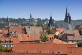 The historic center of Quedlinburg — Foto de Stock