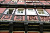 Half-timbered house in Quedlinburg — 图库照片