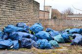 Illegal waste mountains — Stock Photo