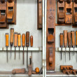 Tools in a carpenter's shop — Stock Photo