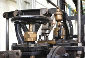Detail of an old steam engine — Stock Photo