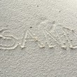Writing in the sand — Stock Photo
