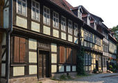 Old half-timbered houses in Quedlinburg — Stock Photo
