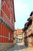Alte fachwerkhäuser in quedlinburg — Stockfoto