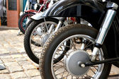 Restored motorcycles in Technik Museum Magdeburg — Stock Photo