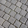 Street with cobblestones — Stock Photo
