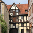 Half-timbered houses in Quedlinburg — Stock Photo