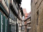 在奎德林堡半砖木结构房屋 — 图库照片