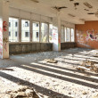 Former dining room of a disused factory — Stok fotoğraf