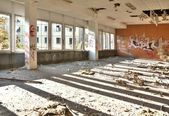 Former dining room of a disused factory — Stock Photo