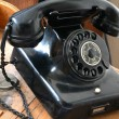 An old phone in the Technik Museum Magdeburg — 图库照片